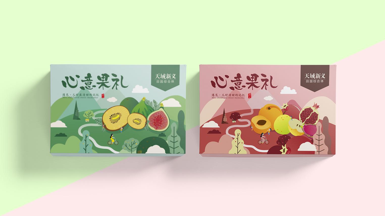 水果礼盒包装设计-创意新鲜水果包装设计-精美礼盒包装策划